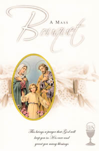 Holy Family Mass Bouquet Card.