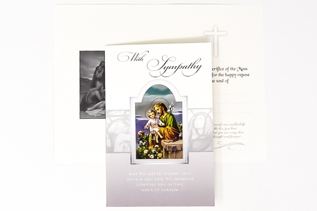 Holy Family Deepest Sympathy Card.