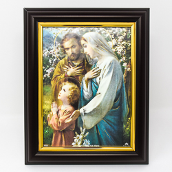 Holy Family Wood Picture.
