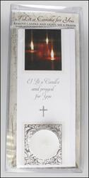 Singly Boxed - I Lit A Candle Card with Votive Light.