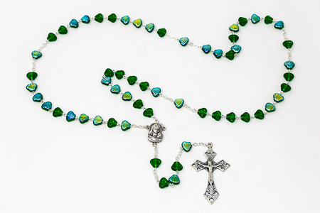 Immaculate Heart of Mary Shell Rosary Beads.