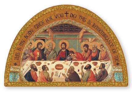 Last Supper Wood Plaque Icon.