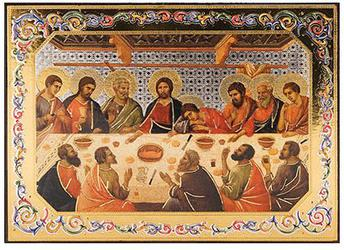 Last supper icon.