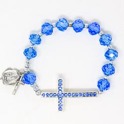 Cross Rosary Bracelet.