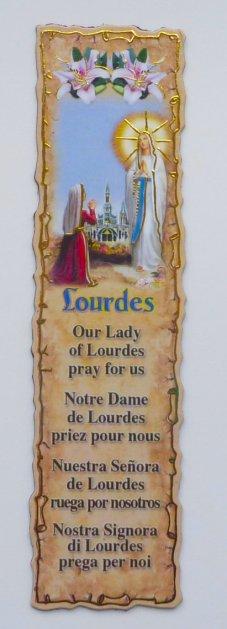 Lourdes Book Mark