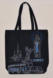 Lourdes Sanctuary Shopping Bag in Black