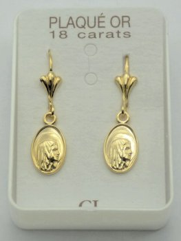 Our Lady of Lourdes Earrings.