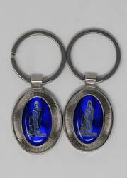Lourdes Enamel Key Ring.