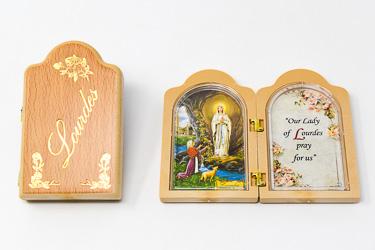 Lourdes Folding Plaque.