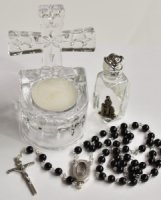 Lourdes Holy Water Font Gift Set.