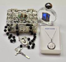 Lourdes 925 Sterling Silver Necklace Gift Set.