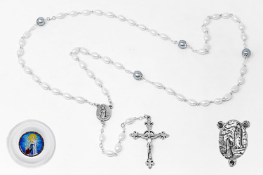 Lourdes Rosary Beads Boxed.
