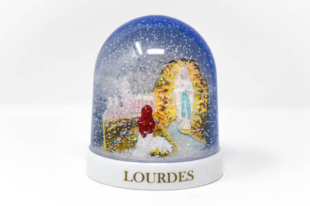 Lourdes Apparition Snow Globe.