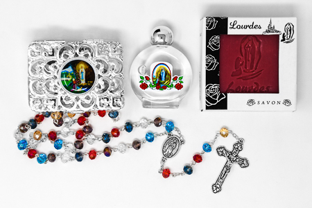 Lourdes Soap and Rosary Gift Set.