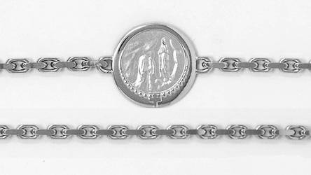Lourdes Sterling Silver Bracelet.