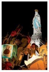 Lourdes Torchlight Procession Prayer Card.