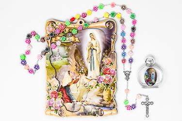 Lourdes Wall Plaque Gift Sett.