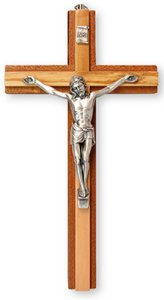 Mahogany Wooden Crucifix.