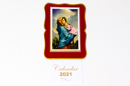 Mary and Child Bless this House 2021 Calendar.