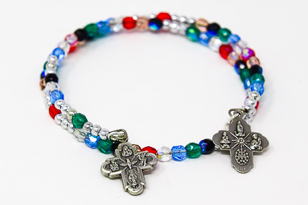 Memory Wire Rosary Bracelet.