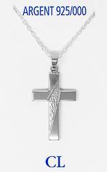 Men's 925 Silver Cross Necklace.
