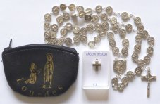 Mens Cross & St Benedict Rosary Catholic Gift Set.