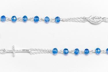 Miraculous Blue Rosary Bracelet