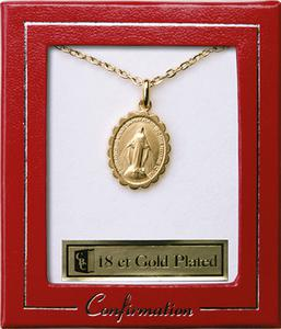 Confirmation Gold Plated Miraculous Necklace
