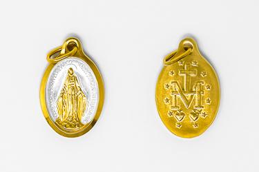 Miraculous Gold Enamel Medal.