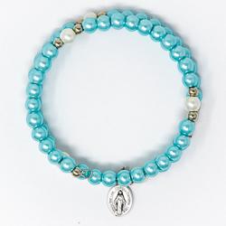 Memory Wire Rosary Bracelet.