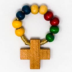 Missionary Wooden Rosary Ring.