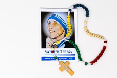 St Teresa of Calcutta Missionary Rosary Beads.