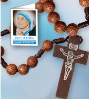 St Teresa of Calcutta Rosary Beads.