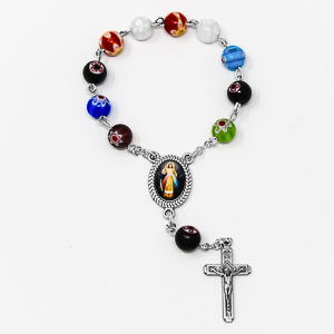 Murano Glass Handheld Rosary Beads.