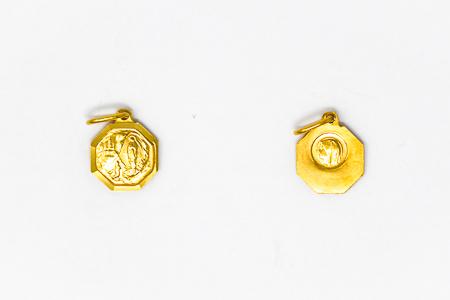 Octagonal Gold Medal.