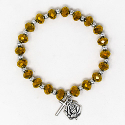 One Decade Crystal Rosary Bracelet.