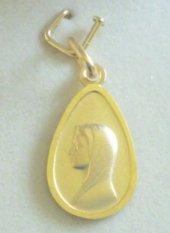 Our Lady of Lourdes 9 & 18 Karat Gold Pendant.