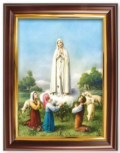 Our Lady of Fatima Framed Picture.