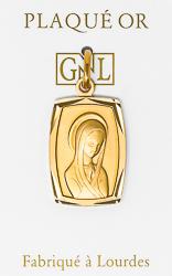 Our Lady of Lourdes 925 Pendant.