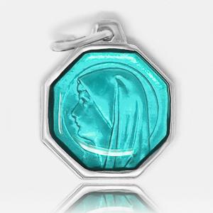 Aqua Our Lady of Lourdes Medal.