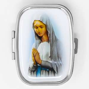 Our Lady of Lourdes Pill Box.