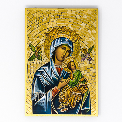Our Lady of Perpetual Help Mosaic Wall Plaque..