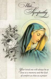 Our Lady Sympathy Mass Card.