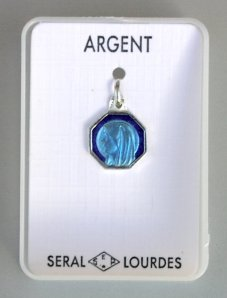 Pendant of Our Lady of Lourdes.