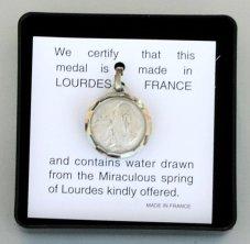 Apparition Pendant Contains Lourdes Water.