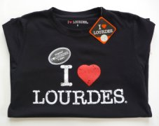 Ladies Lourdes Black T-Shirt.