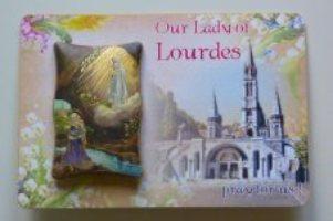Lourdes Wall Plaque & Prayer Card.
