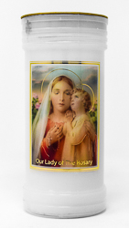 Pillar Candle - Our Lady of the Rosary