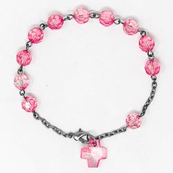 Pink Rosary Bracelet.
