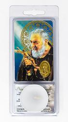 Saint Pio Votive Candle & Prayer.